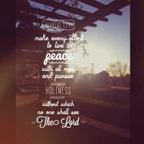 Hou verhoudings heilig deur die Leiding vd Heilige Gees